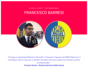 HiSkill Sport Testimonianza Francesco Barresi